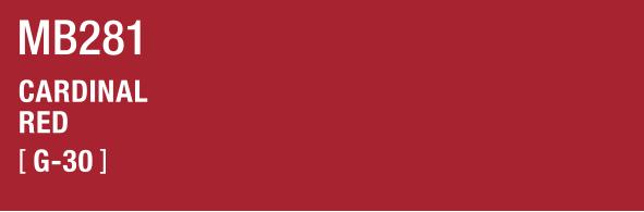 CARDINAL RED MB281 G-30