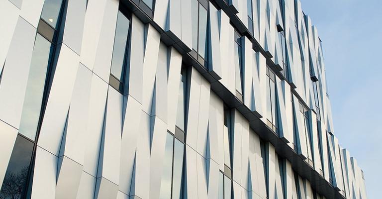 Фасад облицованный алюминиевым листом