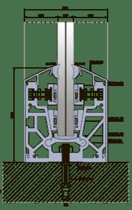 Алюминиевый профиль для стеклянных ограждений