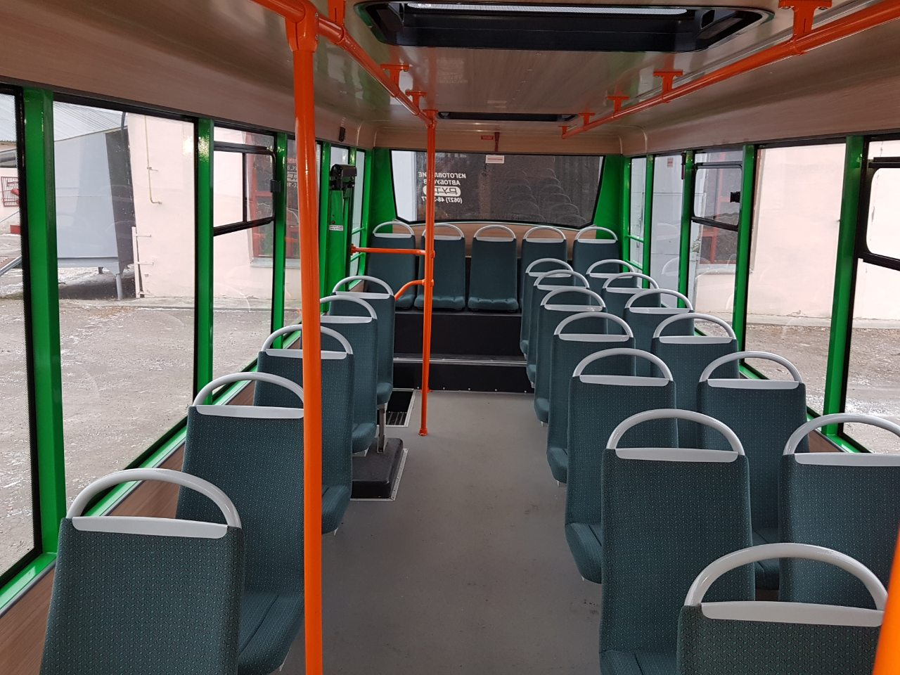 Обшивка в автобусе