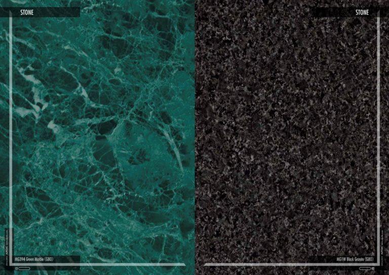 Фасадные панели Алполик под зеленый мрамор и черный гранит